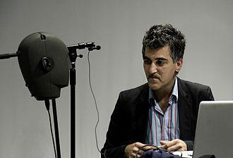 Ràdio Web MACBA - Mark Gergis during an interview at Ràdio Web MACBA