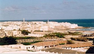 Somali architecture - Whitewashed coral stone city of Merca.