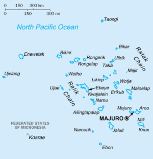 Basic map of the Marshall Islands