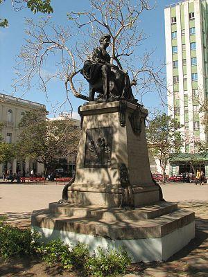 Santa Clara, Cuba - Statue of Marta Abreu in Parque Vidal