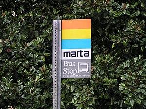 Transportation in Atlanta - MARTA bus stop sign