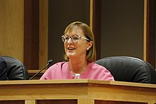Mary A. Throne at Campbell County League of Women Voters' General Election Candidates' Forum in Gillette, Wyoming.jpg
