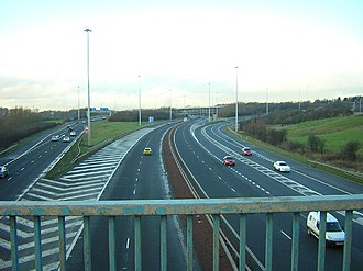 M73 motorway - The interchange with the M74.