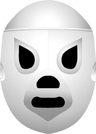 Leyenda de Plata - The mask of El Santo that is mounted on the Leyenda de Plata trophy