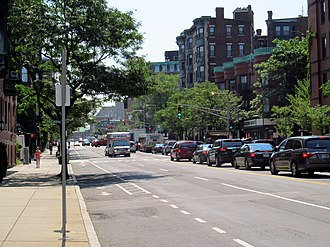 Massachusetts Avenue (metropolitan Boston) - Massachusetts Avenue near Beacon Street in Boston