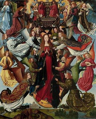 Assumption of the Virgin Mary in art - Image: Master of the St Lucy Legend Mary, Queen of Heaven c. 1480 c. 1510 (hi res)