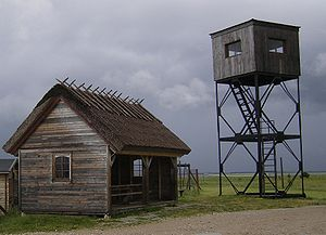 Protected areas of Estonia - Keemu bird watching tower in Matsalu National Park