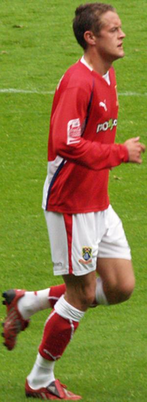 Matthew Blinkhorn - Blinkhorn playing for Morecambe in 2008