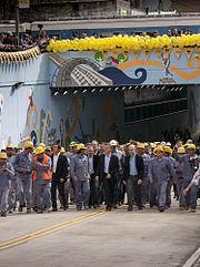 Mauricio Macri inauguró paso bajo nivel en Federico Lacroze y vías del Ferrocarril Mitre (10190369194).jpg
