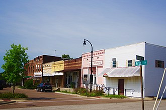 Maury City, Tennessee - Businesses along 1st Street