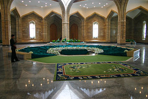 Qardaha - Inside the mausoleum of Hafez al Assad and Basil al-Assad, with the main tomb in the center