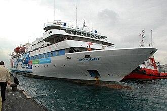 MV Mavi Marmara - Image: Mavi Marmara leaving port
