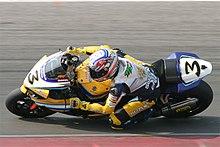 Biaggi nel 2007 in SBK, ad Assen, con la Suzuki GSX-R del Team Alstare.