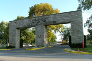 Hoopeston, Illinois - Entrance to McFerren Park, 2007