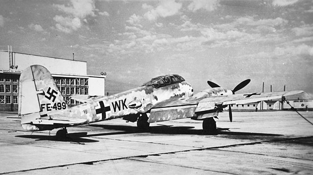Me 410 W.Nr.10018, (FE499) after being sent to the United States