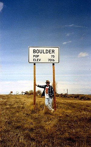 Boulder, Wyoming - Sign at the edge of the community