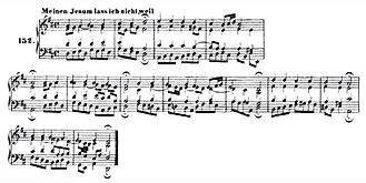 Meinen Jesum laß ich nicht - Four-part setting by Bach of Hammerschmidt's melody, BWV 124/6