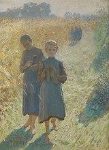 Meisjes in het veld