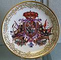 Meissen, 1730-1740 circa, piatto con motivo araldico.JPG