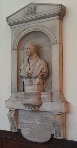 Thomas Talfourd - Lough's memorial to Talfourd in the Shire Hall, Stafford