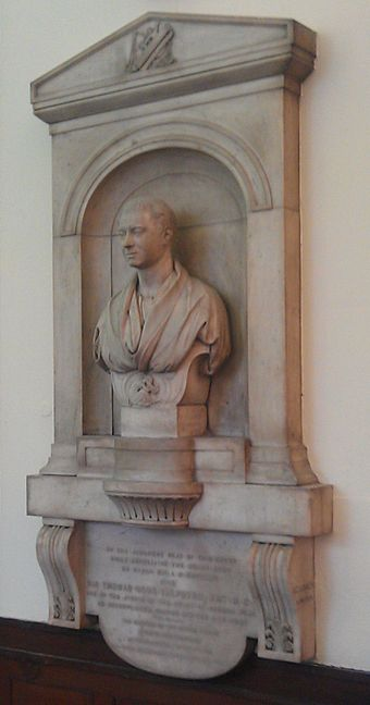 Lough's memorial to Talfourd in the Shire Hall, Stafford Memorial to Thomas Noon Talfourd in Shire Hall Stafford.jpg