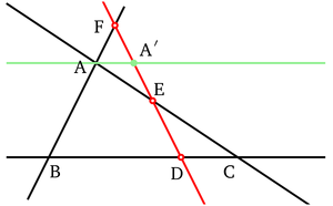History of trigonometry - Menelaus' theorem