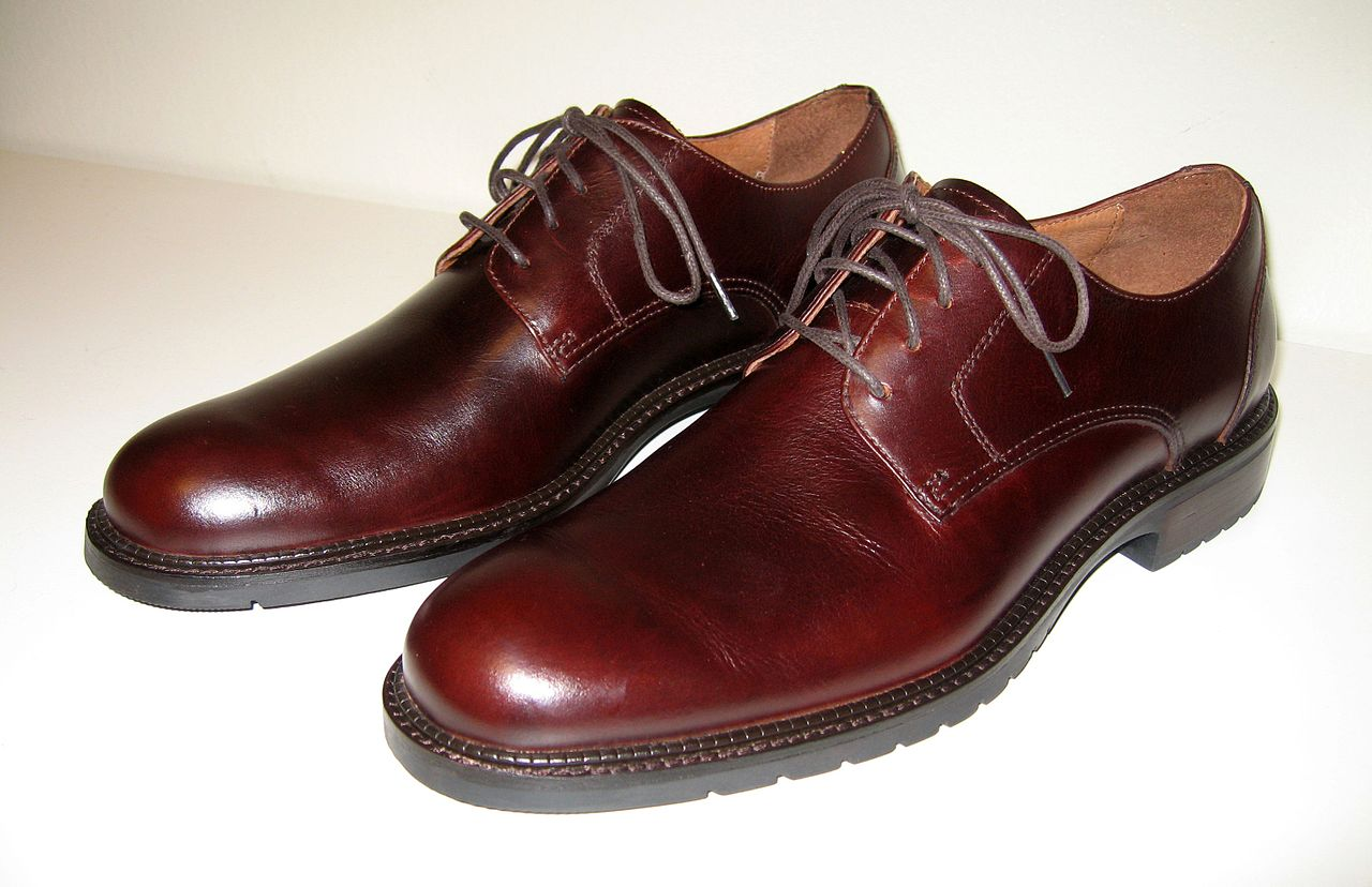Mens Brown Leather Shoes Size
