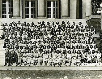 Meredith College - Meredith College students and faculty, 1948