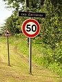 Merviller (M-et-M) city limit sign Les Carrières.jpg