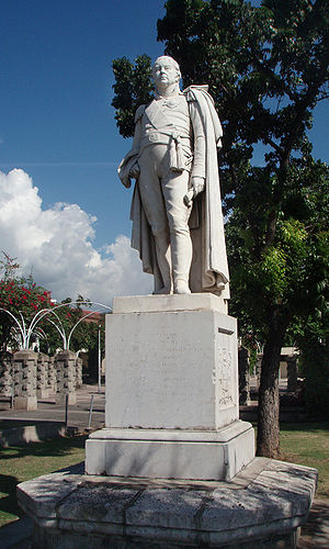 Charles Metcalfe, 1st Baron Metcalfe -  Monument of Charles Metcalfe in St. William Grant Park in Kingston, Jamaica