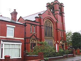Lostock Hall - Image: Methodist church, Lostock Hall