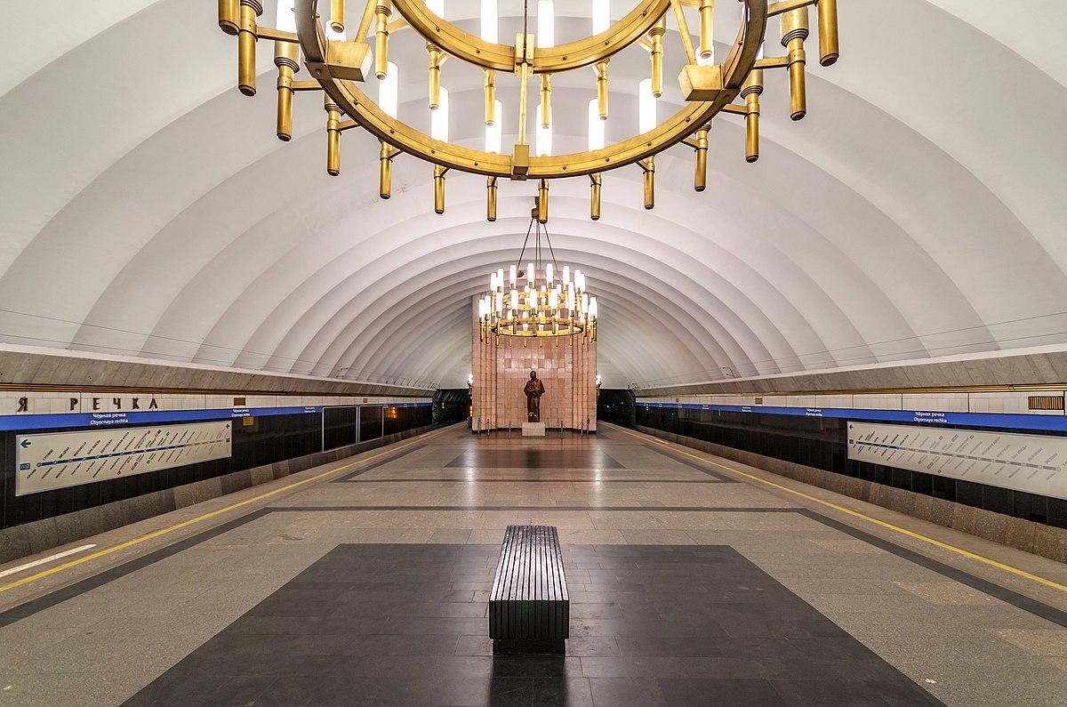 Чёрная речка метро схема