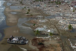 Disaster area - Aftermath of the 2004 tsunami.