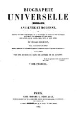 Michaud - Biographie universelle ancienne et moderne - 1843 - Tome 1.djvu
