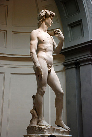 English: Michelangelo's David