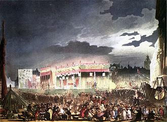 Bartholomew Fair - Bartholomew Fair as illustrated in 1808