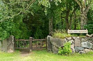 Neemi Village in Saare County, Estonia