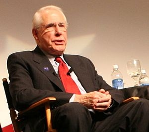 Mike Gravel presidential campaign, 2008 - Gravel during a debate at the Libertarian National Convention