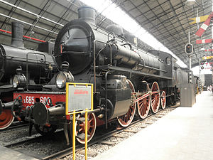 Hitachi Rail Italy - Breda's one thousandth locomotove, the FS 685.600, at the Leonardo da Vinci Museum in Milan