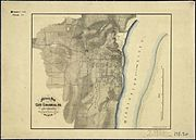 Military Map of Cape Girardeau, Mo., and Vicinity, Showing the location of the Forts. Wm. Hoelcke, Captn. & Addl.... - NARA - 305778
