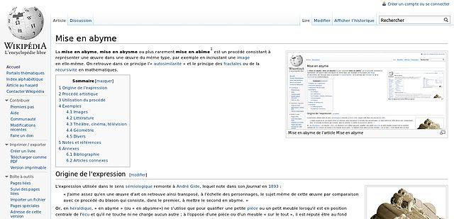 файл Mise En Abyme Jpg вікіпедія