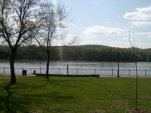 Prairie du Chien, Wisconsin - The Mississippi River, viewed from St. Feriole Island.