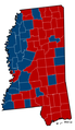 Mississippi Senate Election Results by County, 2012.png
