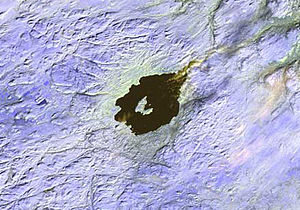Mistastin crater - Image: Mistastinlakecrater