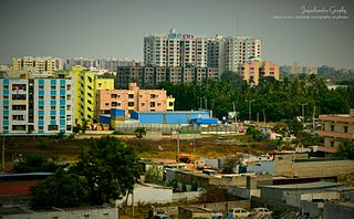 Miyapur Neighbourhood in Ranga Reddy, Telangana, India