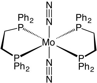 Bis(dinitrogen)bis(1,2-bis(diphenylphosphino)ethane)molybdenum(0) chemical compound