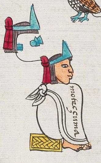 Moctezuma II - Moctezuma II in the Codex Mendoza