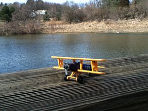 Die-cast toy - A die-cast biplane.