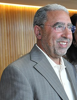 Mohammed Achaari, joint winners of the 2011 Arabic Booker Prize (cropped).jpg