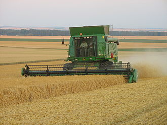 Land consolidation - Land consolidation permits the more efficient use of mechanization, such as combine harvesters
